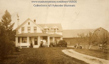 Andrew O. Peterson farm, New Sweden, ca. 1922