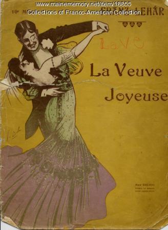 Musical score, 'La Veuve Joyeuse,' ca. 1975