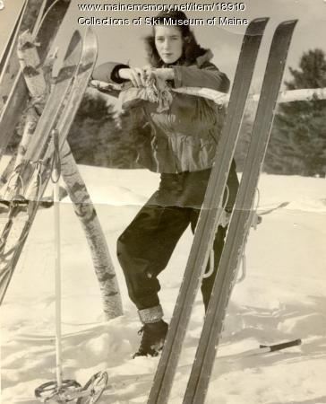 Posing at Pleasant Mountain, Bridgton, ca. 1955