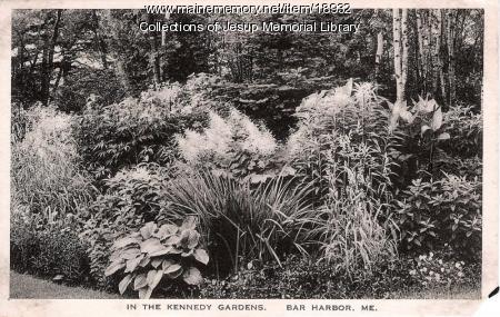 In the Kennedy Italian Gardens, Bar Harbor, ca. 1910