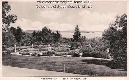 Keewaydin Gardens, Bar Harbor, ca. 1920