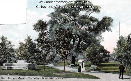 Village Green from Main Street, Bar Harbor, ca. 1908