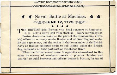 Naval Battle at Machias
