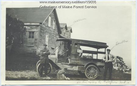 Forest Service watchmen, Cooper Hill, Cooper, ca. 1919