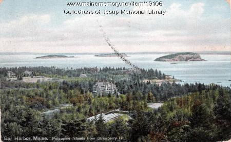Strawberry Hill view, Bar Harbor, ca. 1910