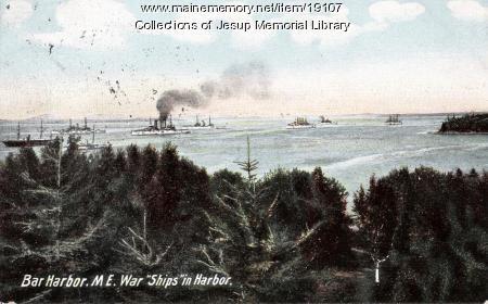 Bar Harbor with War Ships