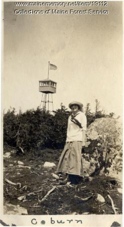Forest Service lookout tower, Coburn Mountain, ca. 1920