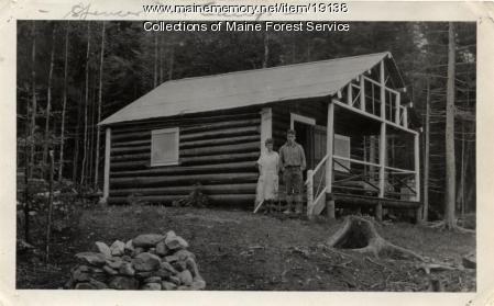 Forest Service camp, Spencer Mountain, ca. 1920