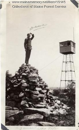 Fire lookout at Agamenticus Mountain, ca. 1920