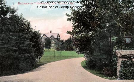 Entrance to Hauterive, Bar Harbor, ca. 1899