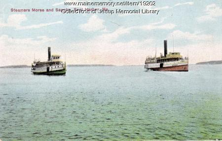 Steamers J.T. Morse and Sappho, Seal Harbor, ca. 1911