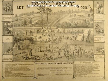 Andersonville Prison Hospital and Stockade, Felix de la Baume, ca. 1864