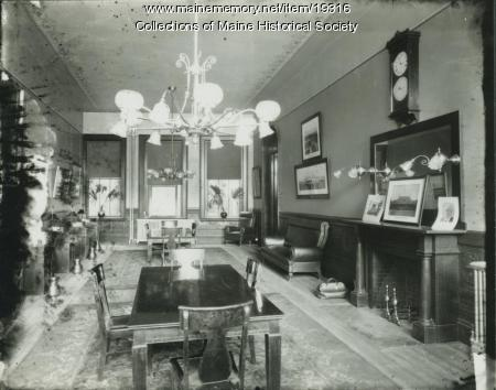 1900 Contributed By Maine Historical Society Item 19316 Interior Falmouth Hotel Portland Ca