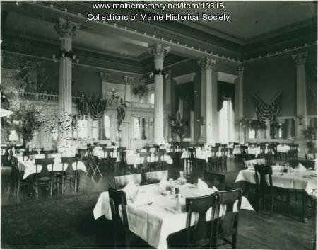 1900 Contributed By Maine Historical Society Item 19318 Dining Room Falmouth Hotel Portland Ca