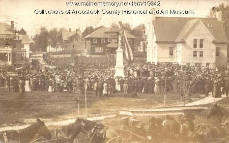 Dedication of Civil War Memorial, Houlton, 1909
