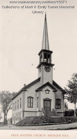 Free Baptist Church, Presque Isle, 1895