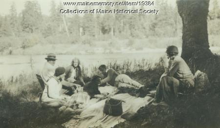 Teresa Colt and friends, Parmachenee, ca. 1940