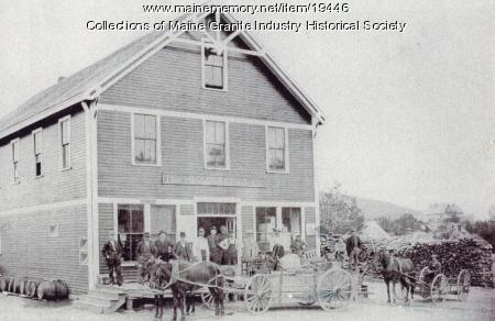 Hall Quarry Company Store, Mount Desert, ca. 1900