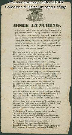 Ballad, More Lynching, 1835