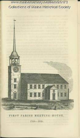 First Parish meeting house, Portland, ca. 1821