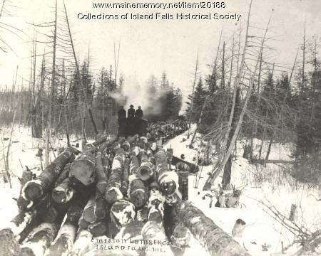 Emerson Lumber Company Lombard hauler, ca. 1905