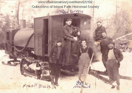 Lombard hauler crew, Littleton, ca. 1905