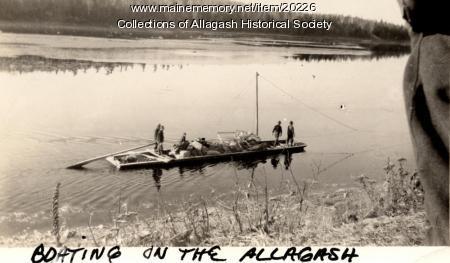 Flat Bottom Boat, St. John River, ca. 1930