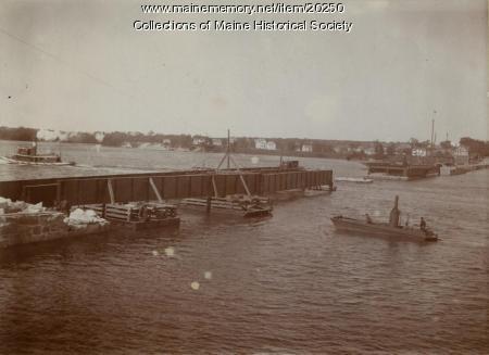 Tukey's Bridge, Portland, ca. 1900