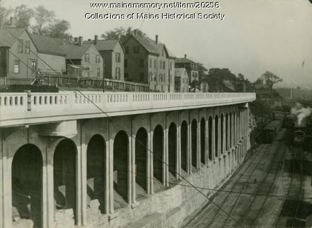 State Street viaduct, Portland, ca. 1920