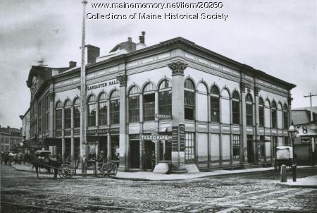 Lancaster Hall, Portland, ca. 1880