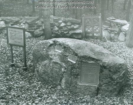 Graves of Baxter animals, Mackworth Island, 1953