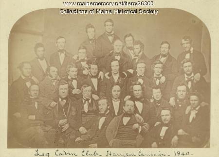 Log Cabin Club, Portland, 1840
