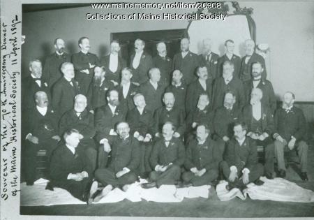 Maine Historical Society anniversary dinner, Portland, 1892