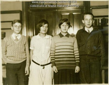 Auditing Club officers, Lincoln Junior High School, Portland, 1925