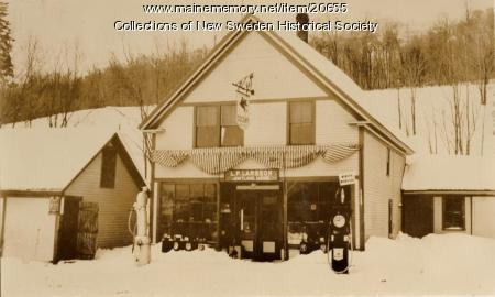 Larsson's General Store, New Sweden, ca. 1930