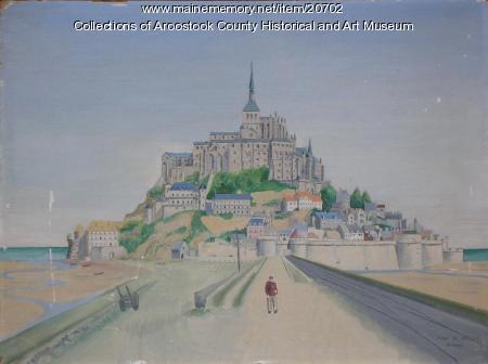Painting of Mont Saint Michel, ca. 1945