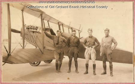 Harry Jones and friends with a Curtiss JN-4C