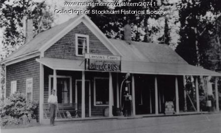 Lawson's camp and store, T16R4, ca. 1920