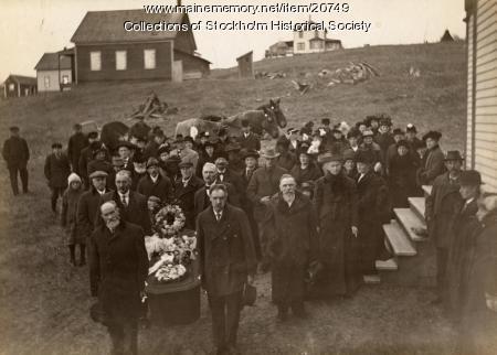 Margret Sodergren funeral, Stockholm, c. 1916