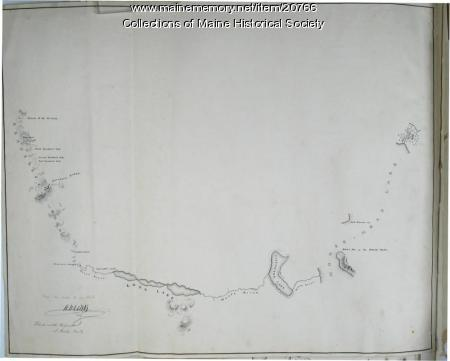 Moose River, Moose Head Lake and Kennebeck Road, 1820