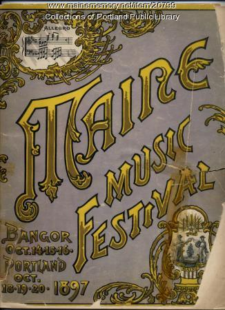 Maine Music Festival program, 1897
