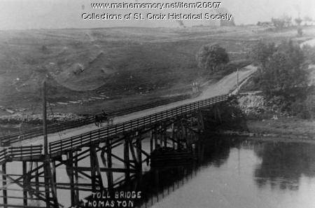 Toll Bridge, Thomaston, 1915