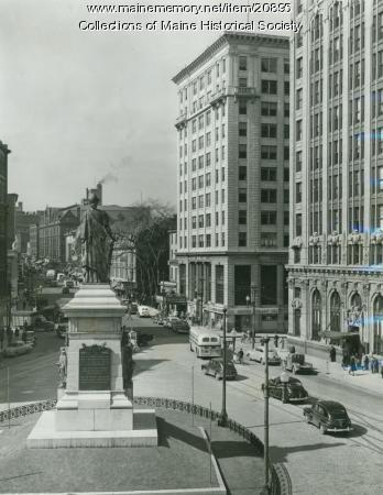 Monument Square, Portland, ca. 1950