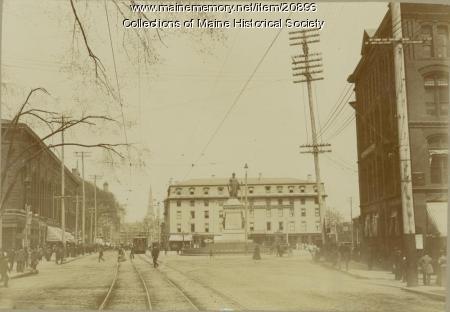 Monument Square, Portland, 1898