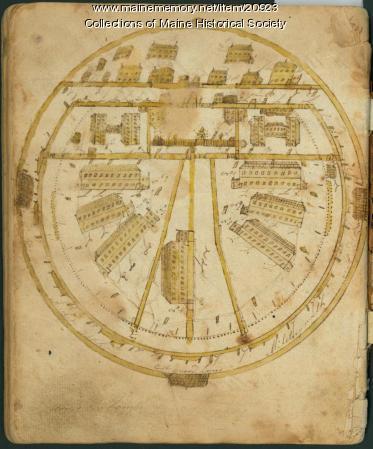 Sketch of Dartmoor Prison, 1815