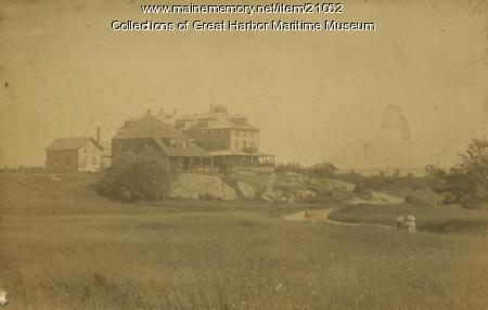 Rock End Hotel Area, Northeast Harbor, ca. 1886