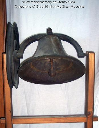 Northeast Harbor school bell, ca. 1881