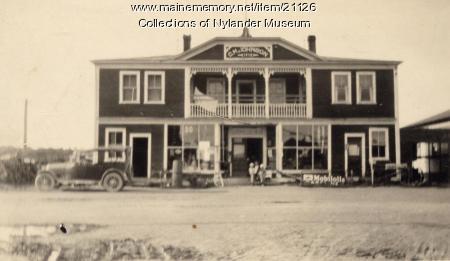 Carl M. Johnson's store, Woodland, ca. 1922