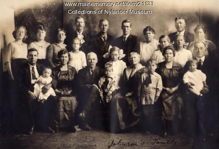 M. Johnson family, Woodland, ca. 1922