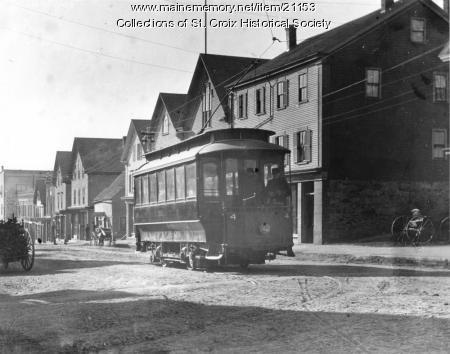 Calais Street Railway car, St. Stephen, New Brunswick, ca. 1900